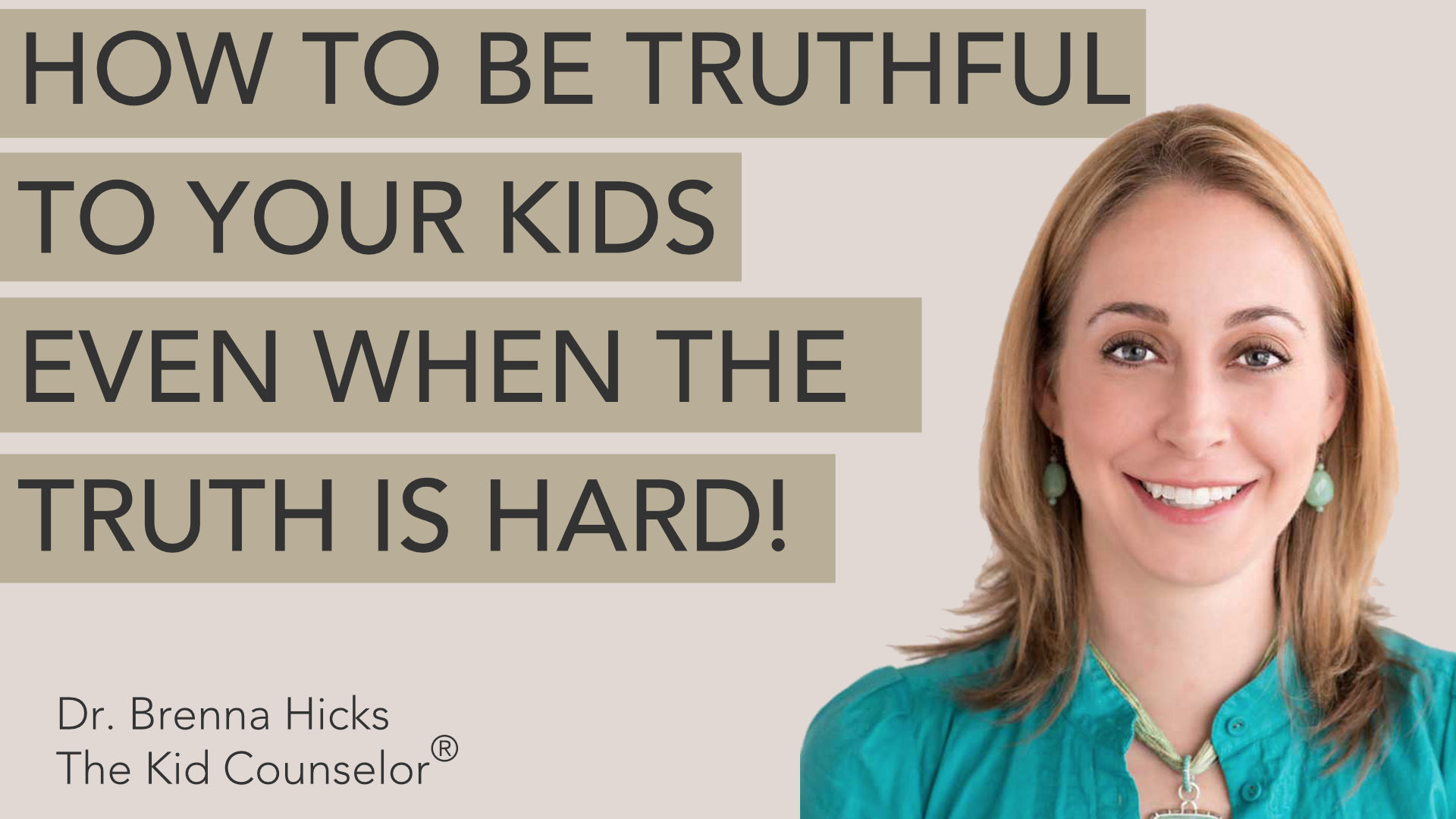 How to be truthful with your kids, even when the truth is hard! (great advice for adoptive families)